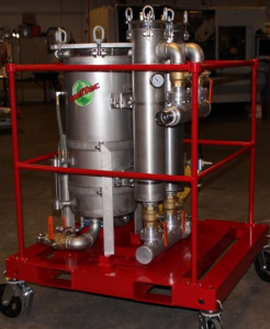 75 GPM, Air Driven Mobile Fuel Polishing and Tank Cleaning System - diesel, gasoline, ethanol, jet fuel, and kerosene